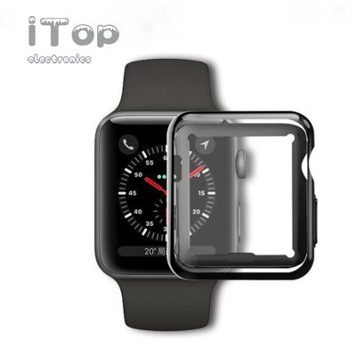 iTop Compatible with Apple Watch Case 38mm 40mm 42mm 44mm, Soft TPU Ultra-Slim Lightweight Bumper Scratch Resistant Protective Case Cover Compatible with Apple Watch Series 4 3 2