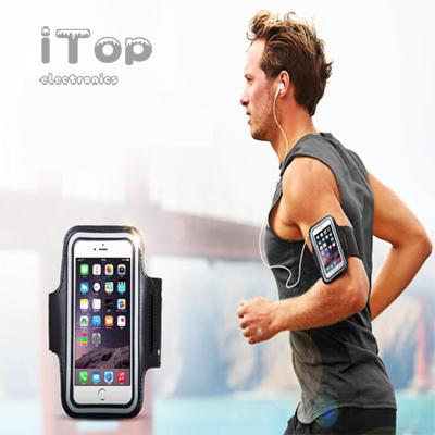 iTop Premium iPhone Running Armband with Fingerprint ID Access. Sports Phone Arm Case Holder for Jogging, Gym Workouts & Exercise