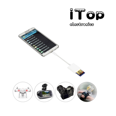 iTop SD Card Camera Reader for Android, Game and Trail Camera Viewer for HUAWEI Samsung Galaxy S6 S7 LG and other Android Cell Phones & Tablets