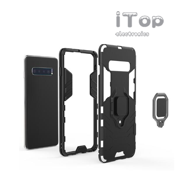 iTop Hybrid Magnetic Kickstand Ring Holder Hard Armor Case For Apple iPhone 6, 7, 8, 8+, X, XR, XS Max
