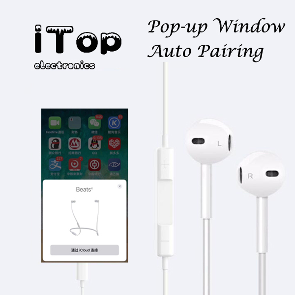 Itop Pop Up Window Earpods For Iphone 11 Ixr Xr Xs Xsmax 7 8 Plus 10