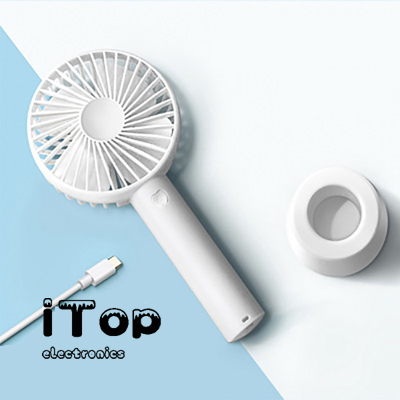 iTop N9-FAN 5W Portable USB Rechargeable Fan, Powerful Mini Handheld Fan with Adjustable Speeds, Cooling Electric Fan for Office Home Travel