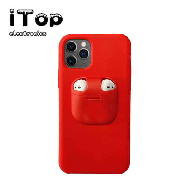 Itop 2 In 1 Iphone Case With Airpods Earphone Storage Box