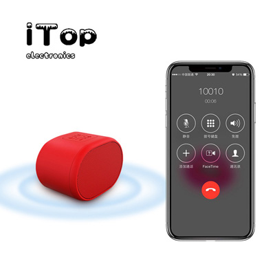 iTop K3 2020 Mini Bluetooth Speaker, IPX5 Waterproof Speaker with 4H Playtime, HD Stereo Sound, Built-in Mic, Support TF Card, Portable Bluetooth Speaker Suit for Travel, Car, Room, Office