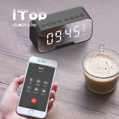 Bluetooth Speakers, iTop Q5 Portable Stereo With Alarm Clock Bluetooth Speaker 12W,AUX/TF/Touch/Remote Control,Built-in Mic,HiFi Bass Wireless Speaker for iPhone/Android/PC