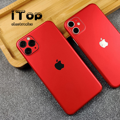 iTop Skin Protector for Apple iPhone 11 Pro Max - 3D Fiber Look Protector Antislip Decal