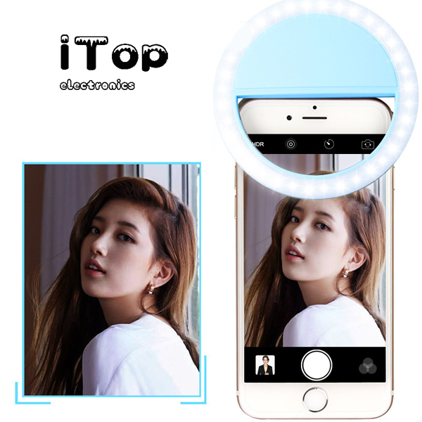 iTop LED Ring Selfie Light Night Lighting Dark Selfie Mobile Phone Fill Light Charge Version RK12