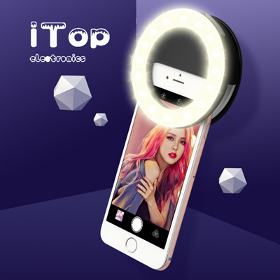 iTop Selfie Light Fill Light RK14 Anchor Beauty Artifact 3 Levels of Brightness Selfie Flash Light with 33 LED Lights, for iPhone, Galaxy, Huawei, Xiaomi, LG, HTC and Other Smart Phones