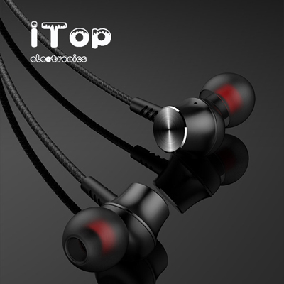 iTop Earphones, iTop Noise Isolating in-Ear Headphones with Pure Sound and Powerful Bass, Earbuds with High Sensitivity Microphone and Volume Control, Headphones for iPhone, iPod, iPad, MP3, Samsung,