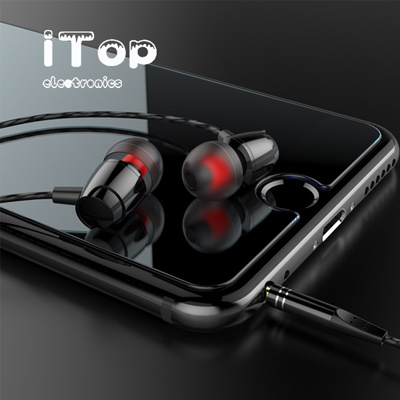 iTop Wired Earbuds, High Definition Earphones, Noise Isolating in Ear Headphones, Deep Bass, Crystal Clear Sound, Compatible with iPhone, iPad, Samsung, Sony, Tablets and Android Smartphones