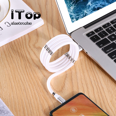 iTop Organizable Redesigned Magnetic Absorption Nano Data Cable, 360 Degree LED Streamer Quick, USB Cable Data Fast Charger for iPhone/Android/Type-c, Redesign To Organize Your Cable
