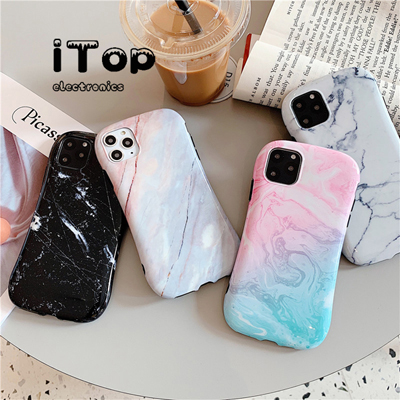 iTop shock-proof slim waist instagram style For Samsung Galaxy Note 20 Plus For Note 20 Ultra glass marble pattern cute funny trendy cover casing