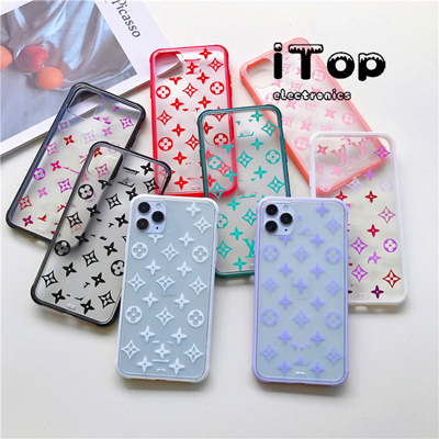 iTop Luxury Emerald LV Monogram Clear Matte Phone Case For iPhone 11 Pro Max Xr X XS Max 7 8 Plus SE 2020 Soft Transparent TPU Back Cover