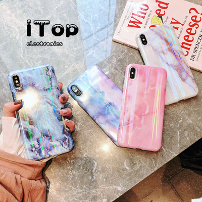 iTop Huawei Nova 3 3e 3i Phone Case Laser Marble 2 Lite 2s Casing Soft TPU Cover for iPhone X XS Max 6S 7 8 Plus