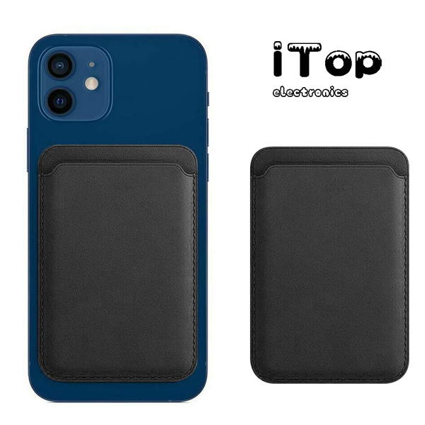 iTop Made For Magnetic MagSafe Leather Wallet Compatible for iPhone 12, RFID Card Holder, Max 2 Cards