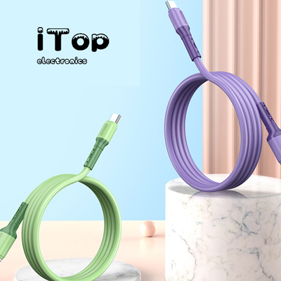 [Ultra Soft & Durable] iTop Liquid Silicone Charging Cable for iPhone 4FT, [2.4A & 480Mbp] Charging & Data Sync for iPhone 11/11Pro/11/Max/X/XS Max/XR/8/8 Plus and More