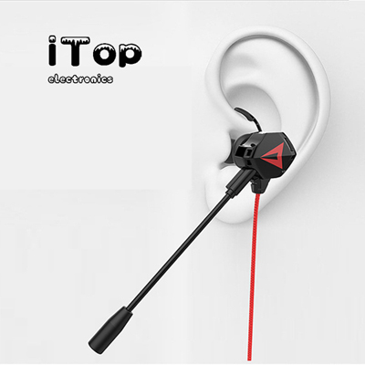 iTop Earbuds with Microphone in Ear Gaming Earbuds Stereo HiFi Surround & Volume Control with 3.5mm Earphones for Cellphone, iPhone, Samsung and Android